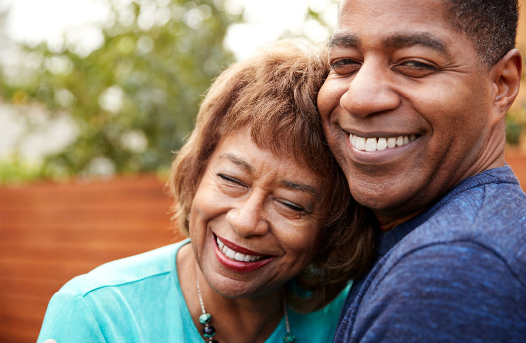 Mature African American Couple Smiling